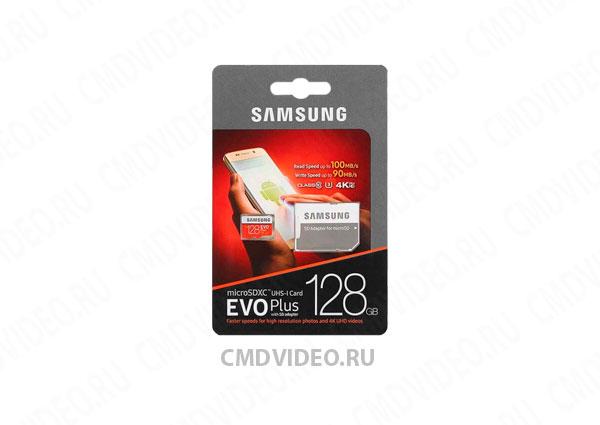 картинка SAMSUNG EVO PLUS 128 ГБ карта памяти microSDXC UHS-I U3 CMDVIDEO.RU   Челябинск