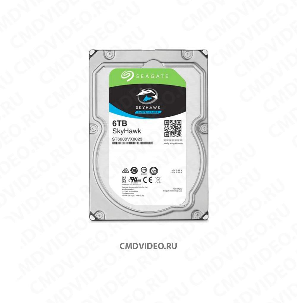 картинка Жесткий диск SEAGATE Skyhawk ST6000VX0023, 6Тб, HDD, SATA III, 3.5 CMDVIDEO.RU | Челябинск