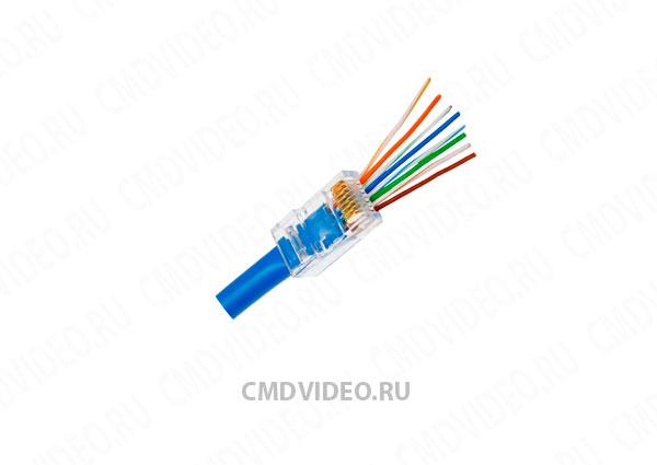 картинка ITK коннектор RJ-45 сквозной от магазина CMDVIDEO.RU   Челябинск