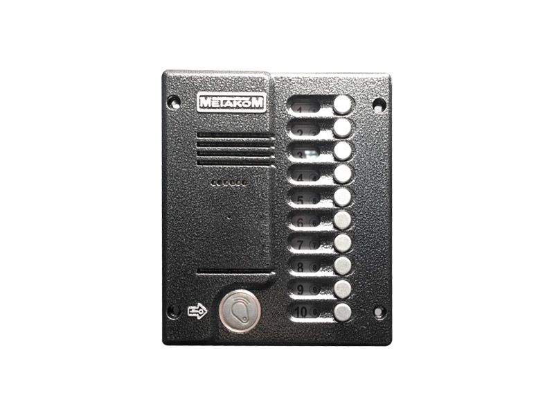 картинка МЕТАКОМ MK10.2-RFEV подъездный домофон 10 абонентов CMDVIDEO.RU | Челябинск