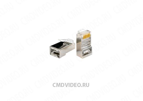 картинка REXANT Коннектор RJ-45 экранированный от магазина CMDVIDEO.RU   Челябинск