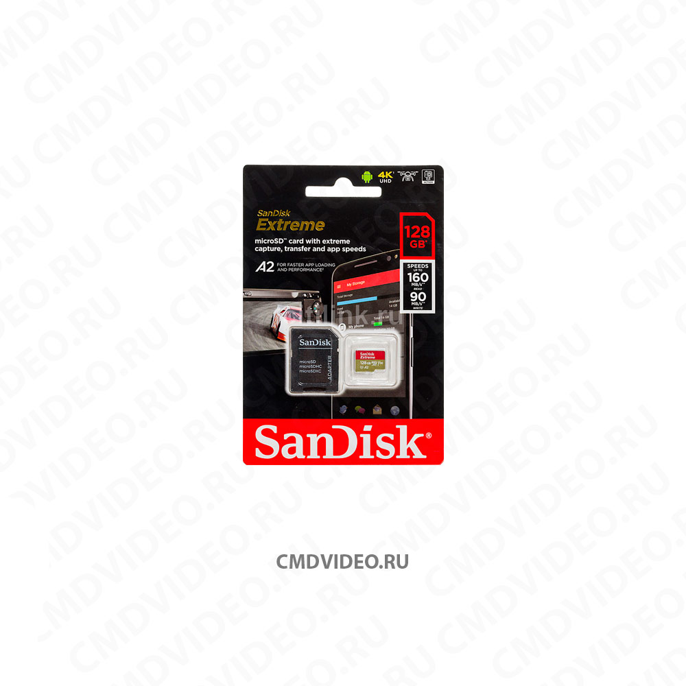 картинка SANDISK Extreme 128 ГБ Карта памяти microSDXC UHS-I U3 CMDVIDEO.RU | Челябинск