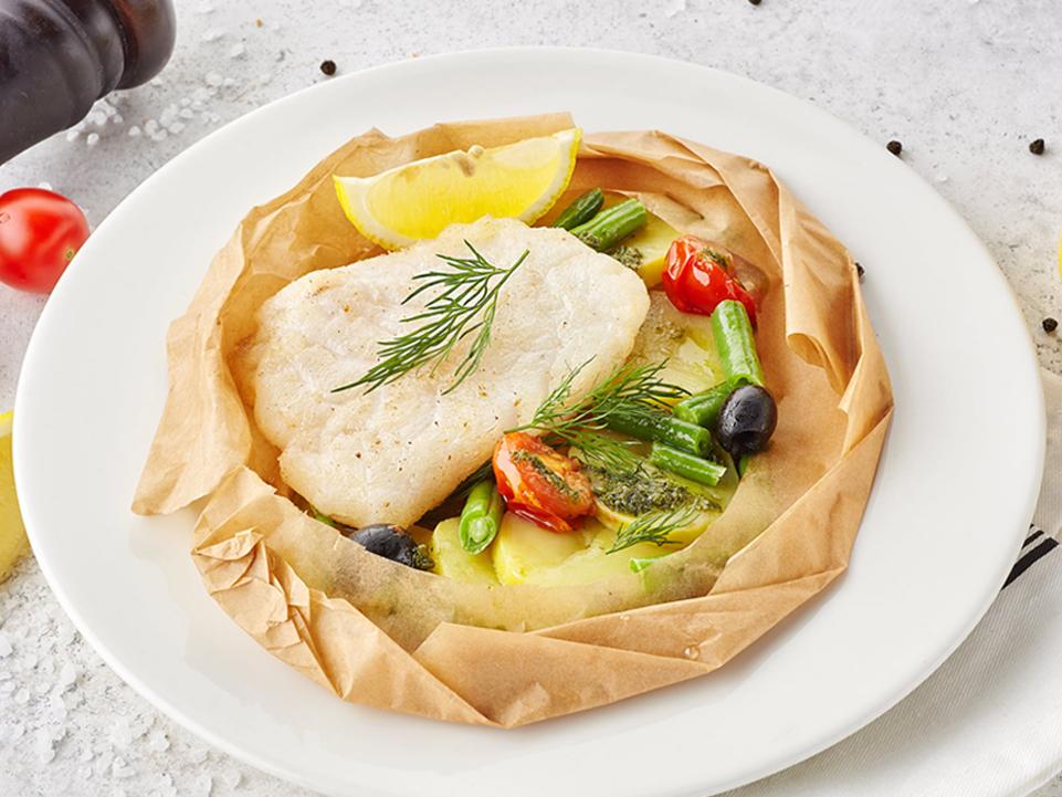 Фото Филе трески, запечённое с овощами и картофелем  Гриль#Factory