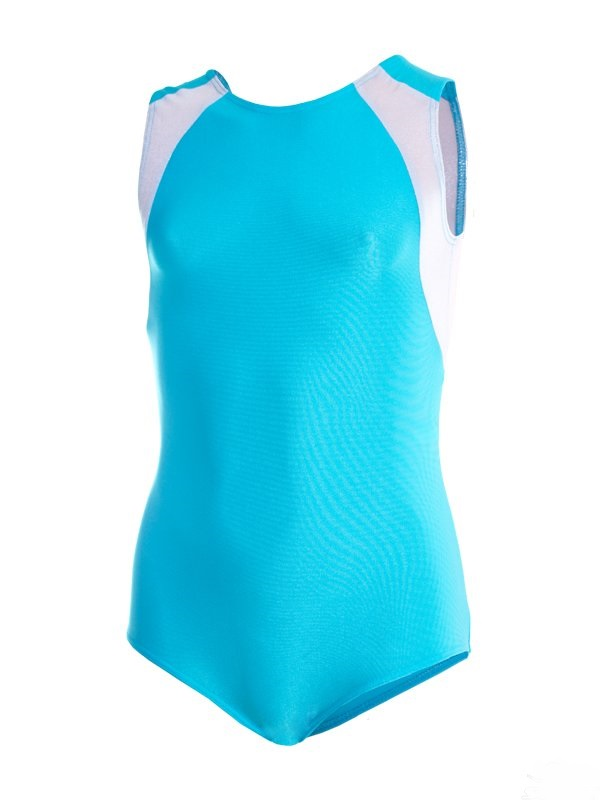 картинка Купальник для спортивной гимнастики со вставками голубой от магазина Одежда+