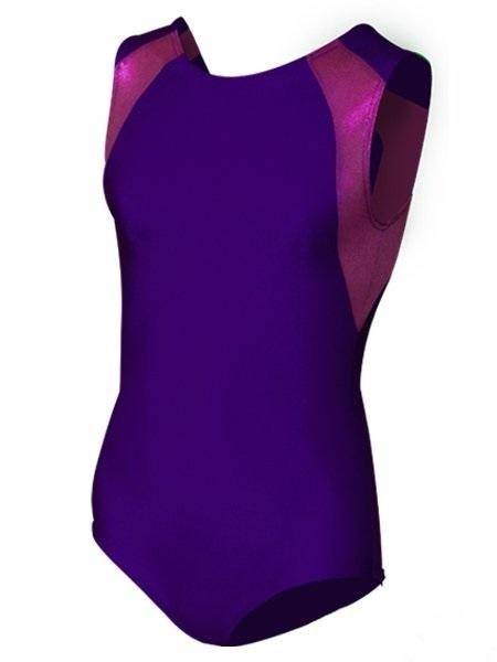картинка Купальник для спортивной гимнастики со вставками фиолетовый от магазина Одежда+
