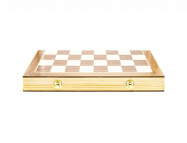 Складные деревянные шахматы (M)