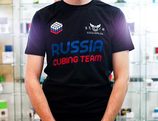 Футболка Russia Cubing Team (Российская Команда Спидкубинга)