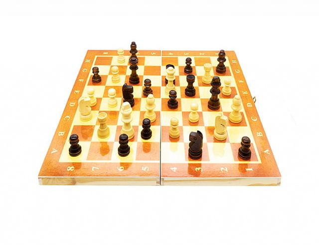 Складные деревянные шахматы (S)