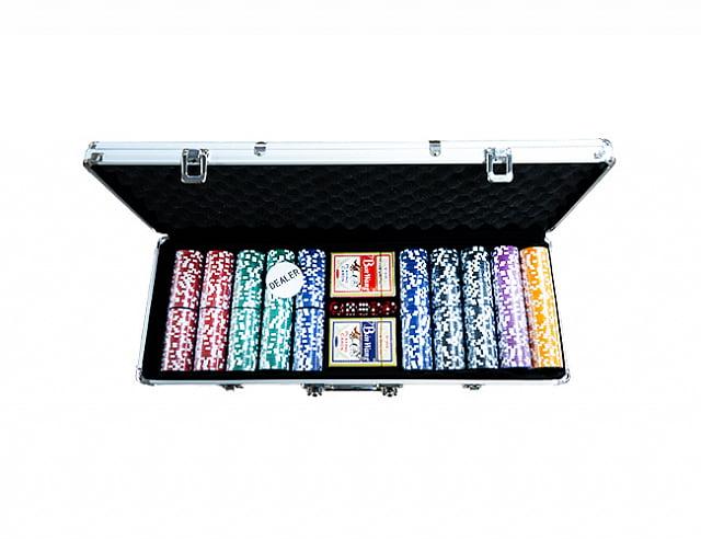 Профессиональный набор для игры в покер Ultimate silver 500