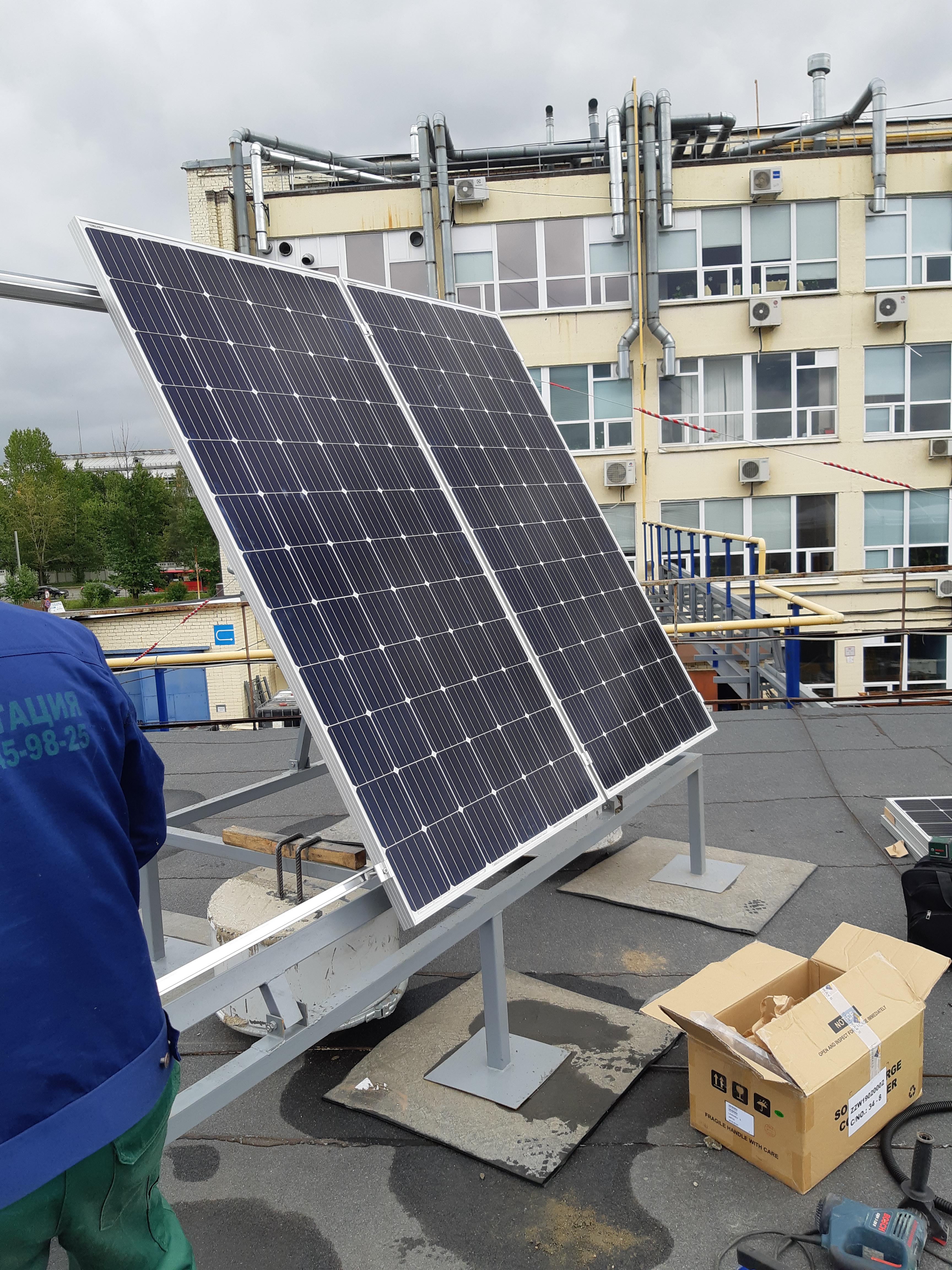 картинка Сетевая гибридная солнечная станция (ИБП) 3кВт от магазина Одежда+
