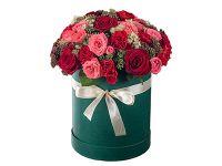 Съемка букетов роз в коробке шляпной