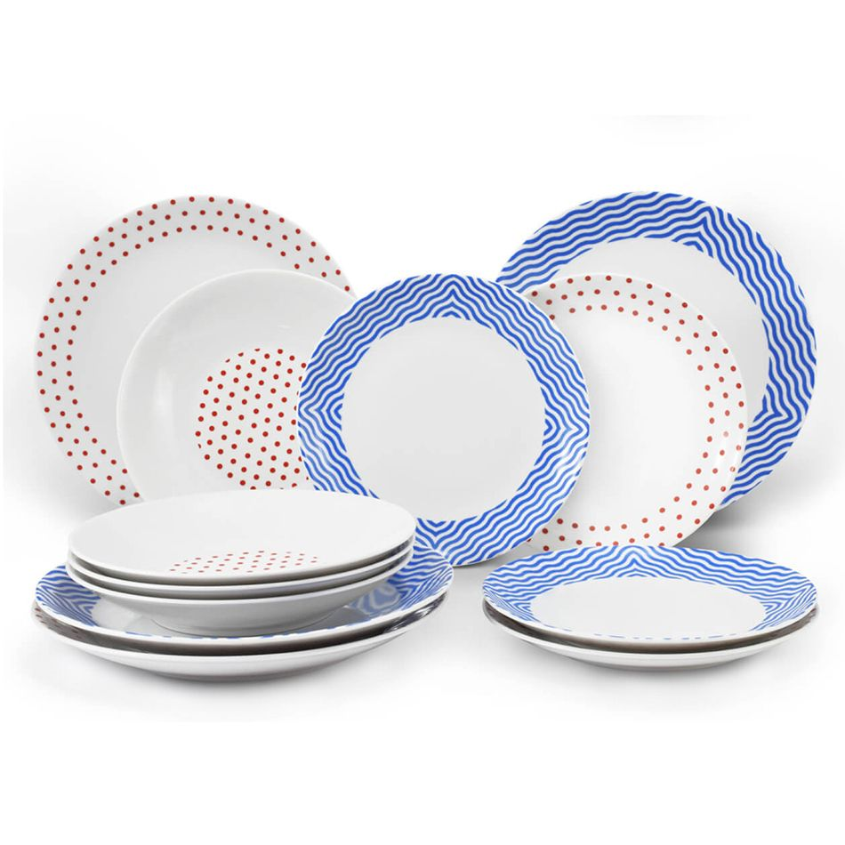 фотосъемка раскладки посуды тарелок