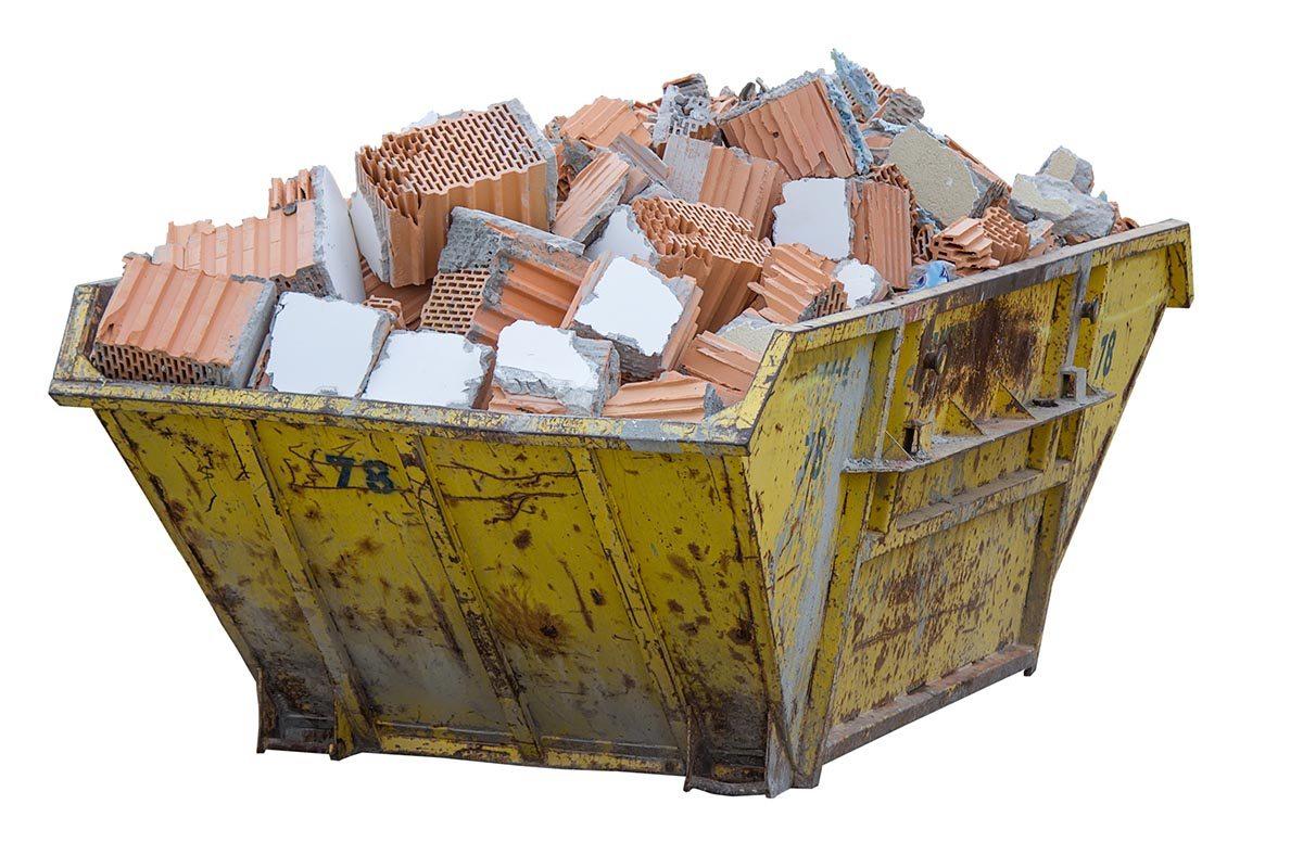 Картинка. Предоставление контейнера под строительный мусор по хорошим ценам.