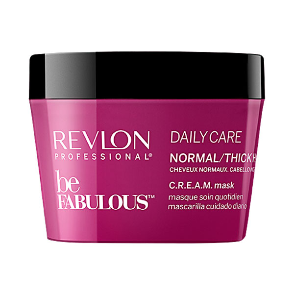 Купить Ежедневная маска для нормальных и густых волос Revlon Be Fabulous Daily Care Normal & Thick Hair Mask 200 мл в интернет-магазине профессиональной косметики Klassika.Top