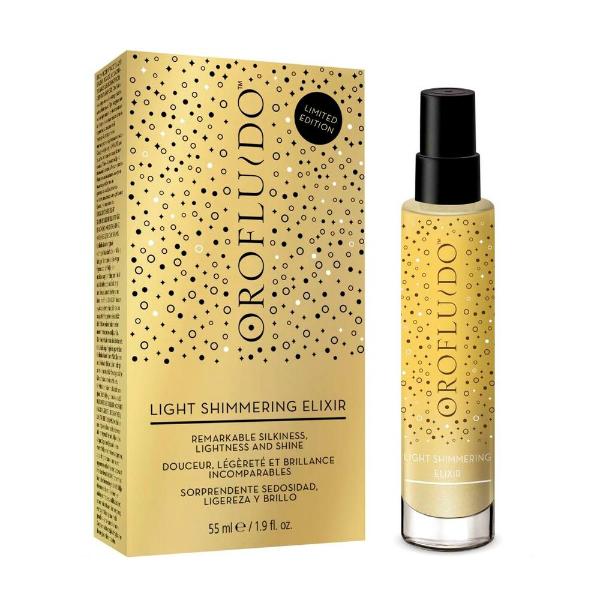 Купить Спрей для блеска волос Orofluido Light Shimmering Elixir 55 мл в интернет-магазине профессиональной косметики Klassika.Top