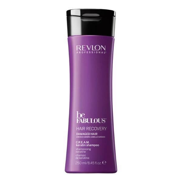 Купить Восстанавливающий шампунь с кератином Revlon Be Fabulous Hair Recovery Keratin Shampoo 250 мл в интернет-магазине профессиональной косметики Klassika.Top