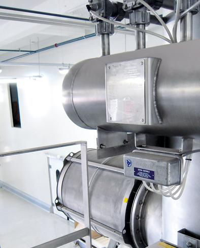 Rohr ® на фильтре Беспламенная вентиляция Q-Rohr на силосе, пищевая промышленность