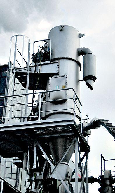 REMBE® взрыворазрядная панель EDP на бункере для стружки на заводе по производству древесностружечных плит