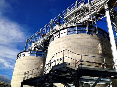 REMBE®взрыворазрядная панель EGV на бункере биомассы