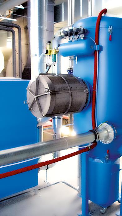Беспламенное вентилирование Q-Rohr ® на фильтре
