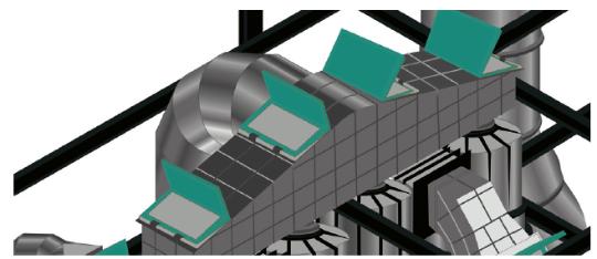 Использование в сушильных установках