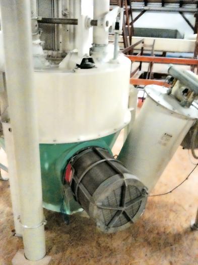 Беспламенное вентилирование Q-Rohr ® на вертикальной молотковой мельнице для зерна