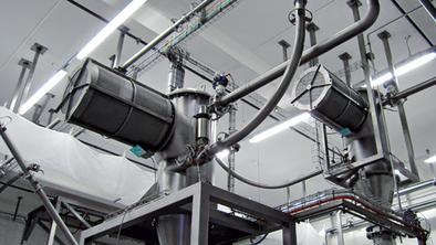 Беспламенное вентилирование Q-Rohr ® на силосе в пищевой промышленности