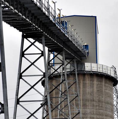 REMBE ® взрыворазрядная панель EGV на бункере биомассы