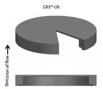 GRX® - UK: графитовый разрывной диск, перевернутая конструкция для низкого и среднего давления