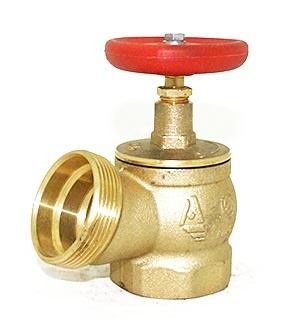 картинка Клапан пожарный латунный КПЛ 50-1 муфта-цапка 125° от магазина