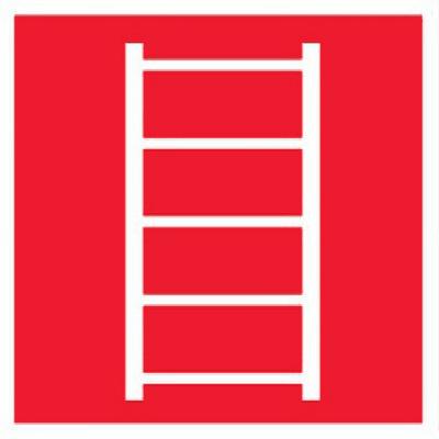 картинка Знак F03 Пожарная лестница •ГОСТ 12.4.026-2015• (Пленка 200 х 200) от магазина