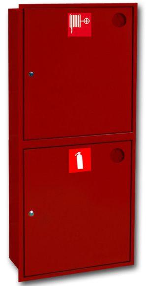 картинка Шкаф пожарный ШПК-320 ВЗК. встроенный закрытый красный от магазина