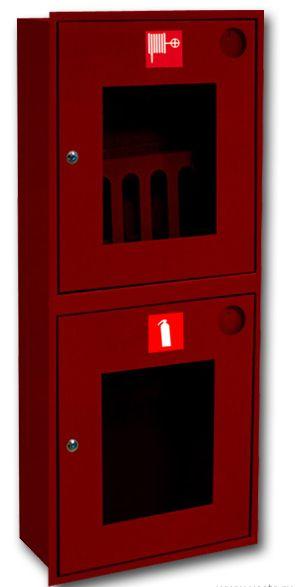 картинка Шкаф пожарный ШПК-320 ВОК. встроенный открытый красный от магазина