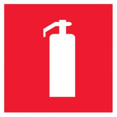 Знак F04 Огнетушитель •ГОСТ 12.4.026-2015• (Пластик 150 x 150)