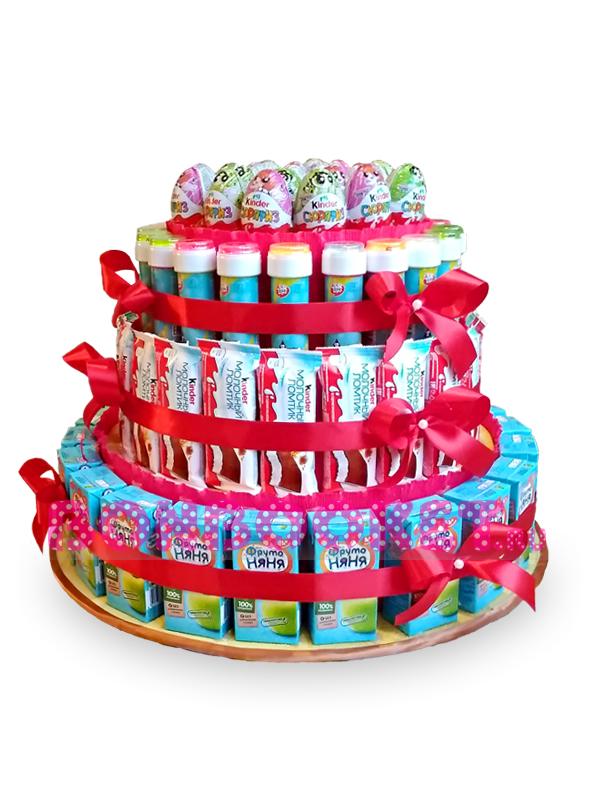 Торт из сока, барни, киндер-сюрпризов и мыльных пузырей *