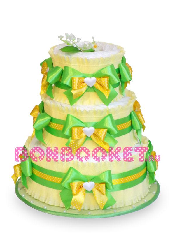 Торт из памперсов Весеннее Солнышко