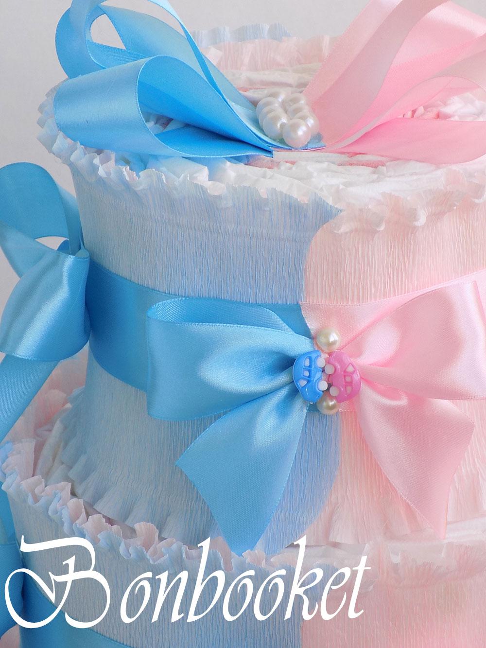Торт из памперсов для двойни