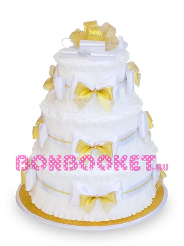 Торт из памперсов Золотой