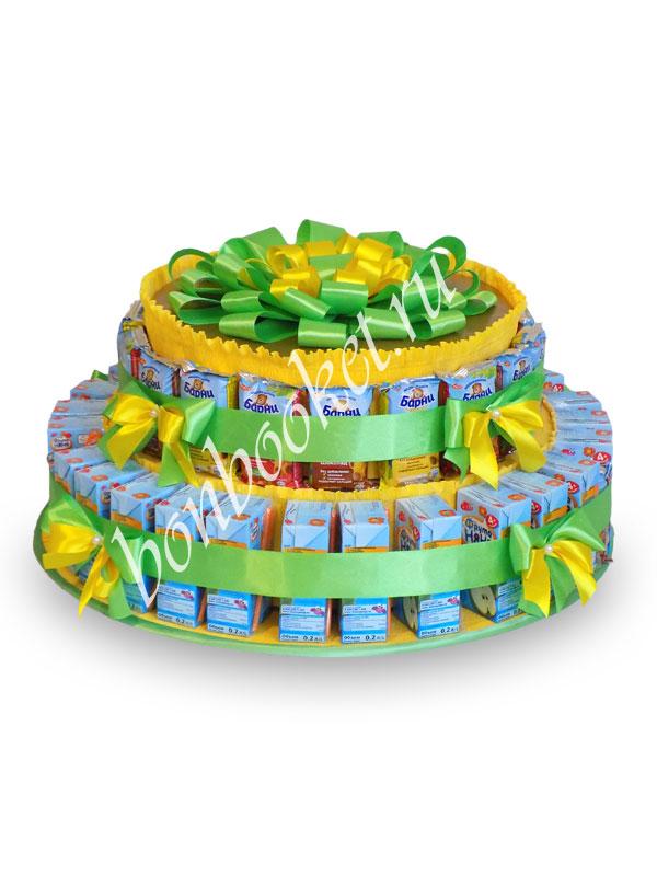 Торт из сока и барни Желто-зеленый *