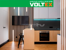 Применение кабеля VOLTEX в просторной кухне с «перчинкой» старинного дома и в банной зоне для отдыха в программе Переделка на НТВ