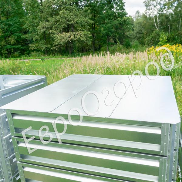 Крышка оцинкованная для компостера Премиум 100x100 см