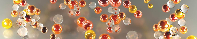 """картинка Фартук """"Оранжевые пузырьки"""" от магазина Одежда+"""