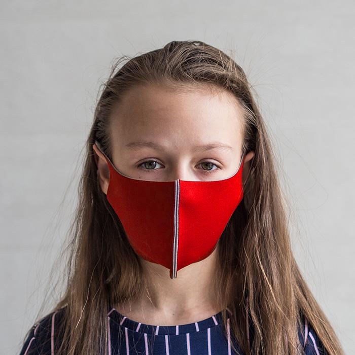 """картинка Детская защитная маска """"Красный"""" от магазина Одежда+"""