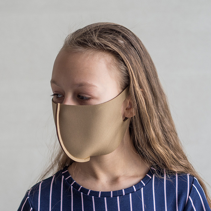 """картинка Детская защитная маска """"Мокко"""" от магазина Одежда+"""