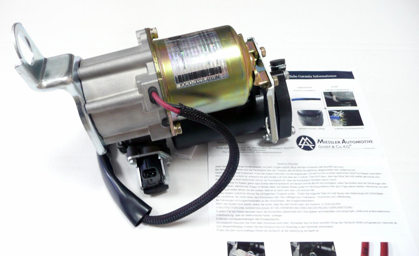 картинка Новый компрессор пневмоподвески Miessler для Toyota Land Cruiser Prado 120 и Prado 150; Lexus GX460 и Lexus GX470 (4891060042, 4891060021) от магазина пневмоподвески ПневмоМаркет