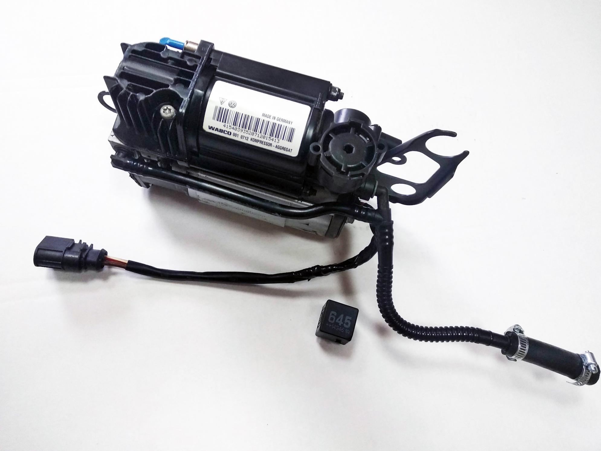 картинка Оригинальный восстановленный компрессор пневмоподвески VW Touareg I GP, Porsche Cayenne I 955/957, Audi Q7 4L (4L0698007) от магазина пневмоподвески ПневмоМаркет