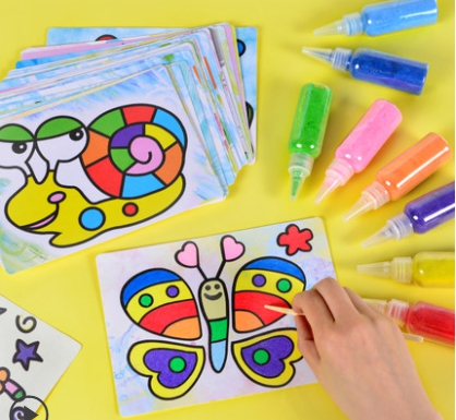 картинка Рисование цветным песком 12 цветов от магазина Zebrra.ru
