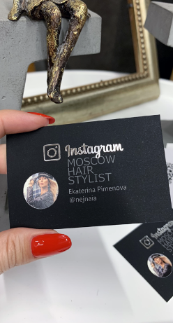 Визитка instagram