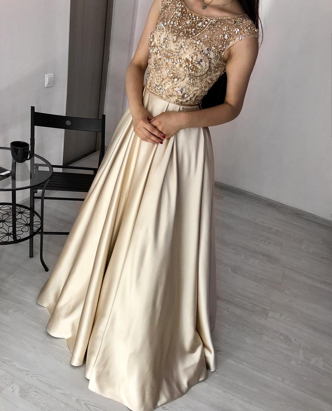 картинка Вечернее платье с бисером и стразами AV102018 интернет бутик Avolet.ru