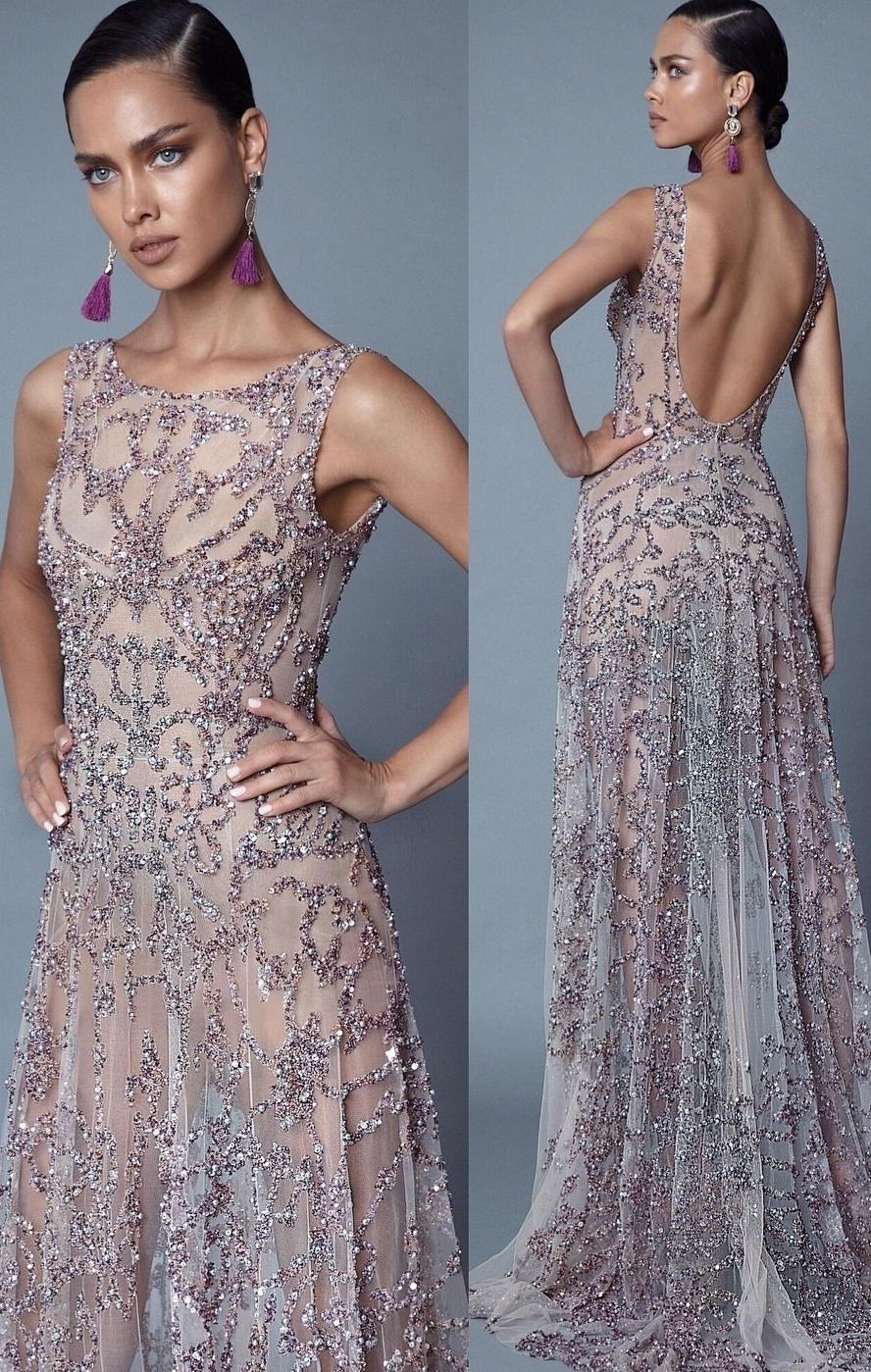 картинка Вечернее платье стеклярусом LUX5 интернет бутик Avolet.ru